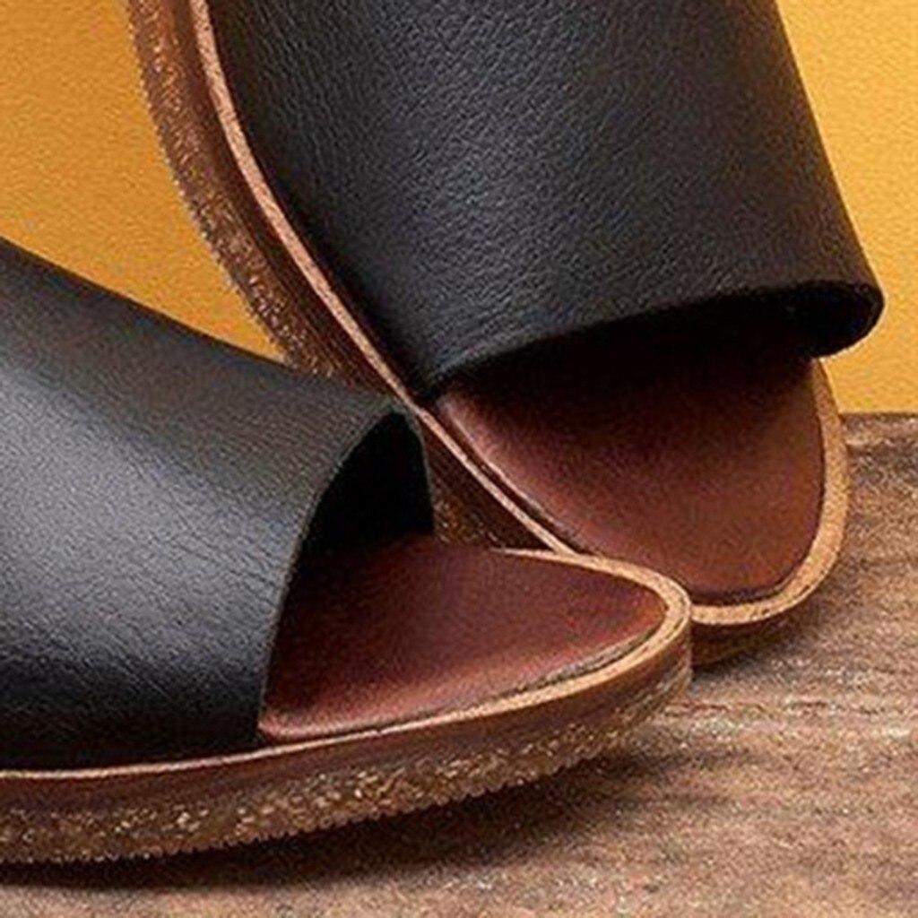 JAYCOSIN Summer Sandals Women Ladies Retro Vintage Flat Peep Toe Sandals Casual Shoes Woman Slip On Leisure Footwear sandalias 1 2