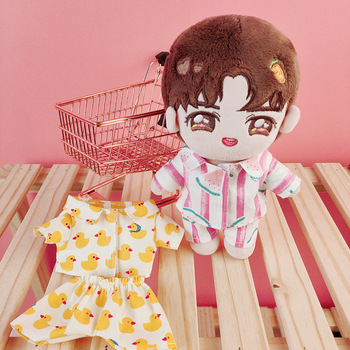 Ropa de algodón para bebé Ins kindergarten de 20cm exo, ropa de bebé sin atributos, traje de pijama, falda de bebé estrella, ropa de muñeca