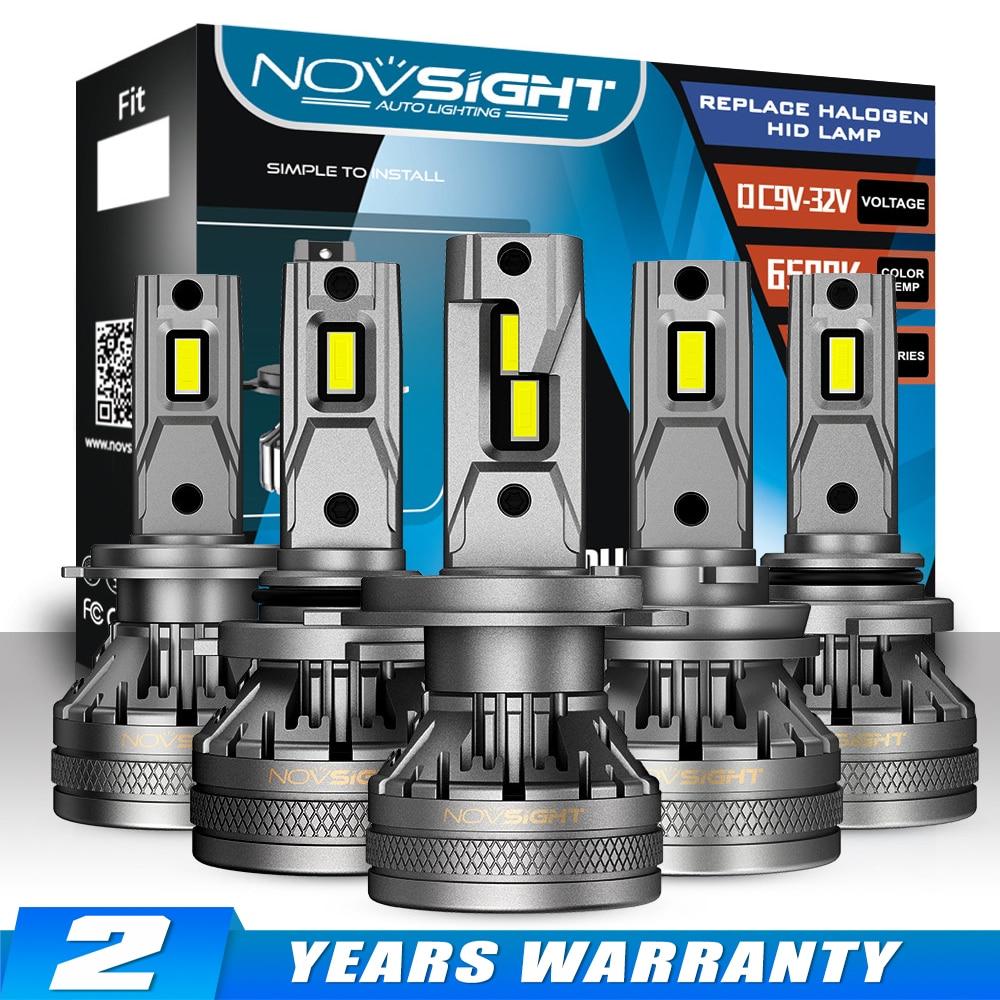 Светодиодные лампы для автомобильных фар NOVSIGHT, H11 H4 H7 H8 H9 H1 H3 9004 9005 9006 9007 Вт 120 лм 6500K декодер, аксессуары для автомобильных фар