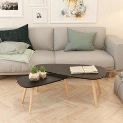 Table basse en MDF pour salon, 2 pièces, mobilier de maison