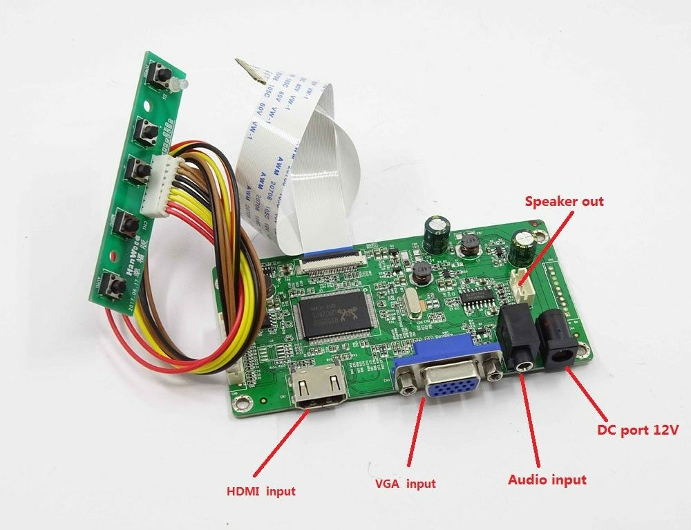 Yqwsyxl Kit For N156BGE-E31  HDMI + VGA LCD LED LVDS EDP Controller Board Driver