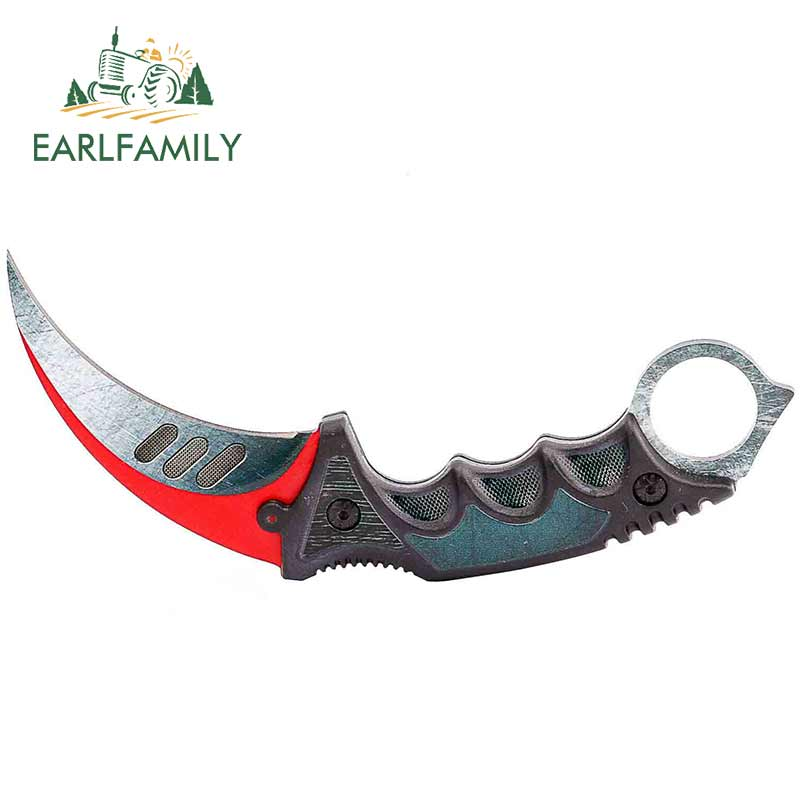 EARLFAMILY 13cm X 5.5cm For CSGO Skin Karambit Personality Decal Creative VAN Car Stickers Waterproof Personality Scratch-proof
