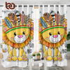 BeddingOutlet Lion Curtain for Living Room Geometric Kids Cartoon Bedroom Curtain Tribal Animal Window Treatment Drapes 1-Piece 1