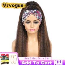 Peluca con diadema de cabello humano degradado para mujer, cabello brasileño liso sin pegamento, peluca resaltadora de cabello humano, Remy Vrvogue
