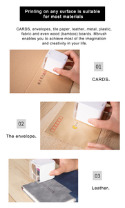 Image 4 - כף יד נייד מדפסת ללא נייר רב משטח קעקוע תמונה לוגו דפוס בר קוד mbrush נייד מיני צבע מדפסת