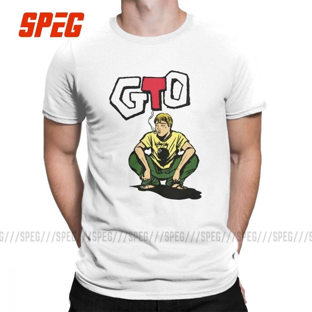 GTO Great Teacher T Shirts Onizuka O-Neck Short Sleeved Lightweight Male S-6XL Tee Shirt Purified Cotton T-Shirts