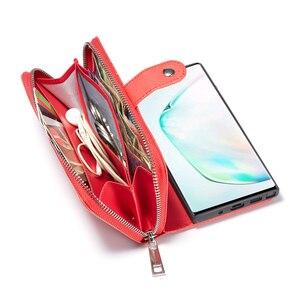Image 5 - Fermeture à glissière portefeuille en cuir étui pour samsung Galaxy S10 Plus S10e S9 Plus S8 Plus Note 10 Plus 9 8 sac à main pochette coque de téléphone