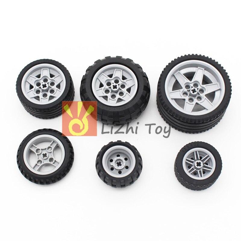 Technic Blocks Parts Tire Tank Wheel Educational Toys Compatible LegoING Technic Robot Car Bulk Building Bricks