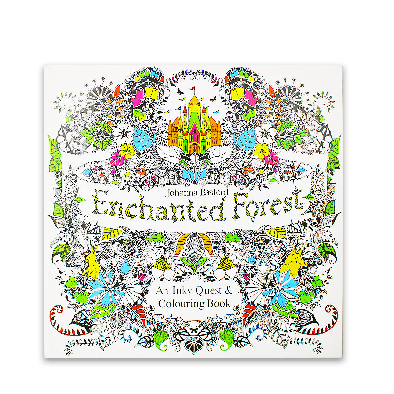 24 Pages English Edition Enchanted Forest Coloring Books For Adults  Children Anti Stress Painting Drawing Art Colouring Book Arts &  Photography- AliExpress
