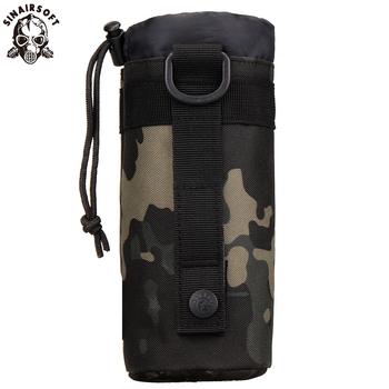 SINAIRSOFT systemu MOLLE armia Sport torba butelka wody torby wspinaczkowe D-uchwyt pierścieniowy etui ze sznurka trwałe podróży piesze wycieczki worek wody tanie i dobre opinie CN (pochodzenie) A001 Unisex Sport Bag Miękka osłona NYLON