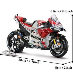 Image 3 - Maisto 1:18 motosiklet modeli oyuncak alaşım araba yarışı dağ motosiklet Desmosedici No.4 Motocross oyuncaklar çocuklar için koleksiyon