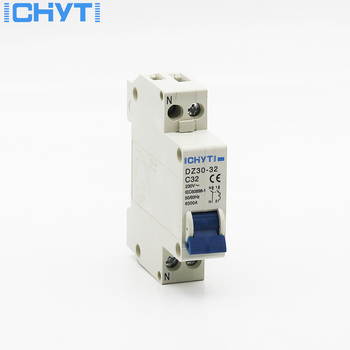 ICHYTI TPN DZ30-32 1P+N Mini Circuit breaker MCB 10A,16A,20A,25A,32A high quality s101 automatic screw type fuse mini circuit breaker mcb 6 32a 240v 415v