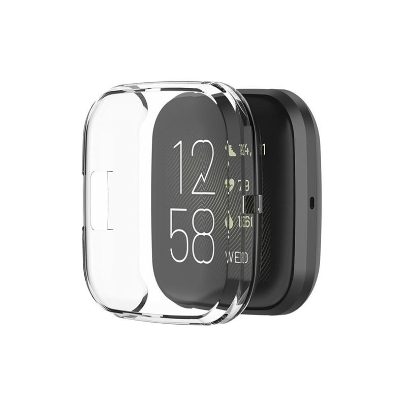 Полное покрытие для Fitbit versa 2 мягкий ультра тонкий кристально чистый защитный чехол для часов защита экрана Аксессуары для часов|Смарт-аксессуары|   | АлиЭкспресс