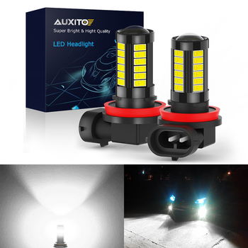 AUXITO 2X CANBUS H11 H9 H8 LED Car Fog Lamp 9006 HB4 Fog Lights For BMW E46 E90 E60 E39 E36 F30 X5 E53 E70 E87 M3 M5 NO ERROR image