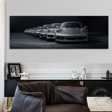 Unframed Luxury Car Painting 911 Sport Car Pictures Retro Wall Art Painting Industrial Style Wall Pictures Home Decoration Gift