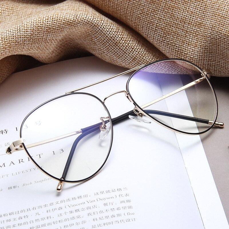 Zerosun 150mm Oversized Eyeglasses Frame Women Men Vintage Aviation Glasses Woman Nerd Points For Prescription Graduate Lens