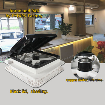 11'' CE Manual control Caravan accessories Motorhomes vents 12V fan without LED camper rv roof exhaust fan Recreational Vehicle 1
