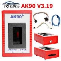 Mais recente v3.19 ak90 para bmw ak90 + ak 90 ferramenta programador chave para todos bmw ews ak 90 key maker AK-90 para bmw ews 1995-2005