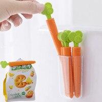 5PCS Lebensmittel Abdichtung Clip mit box Kühlschrank Magnet Küche Lagerung Lebensmittel Snack Dichtung Abdichtung Tasche Verschluss Clamp Hause Lagerung