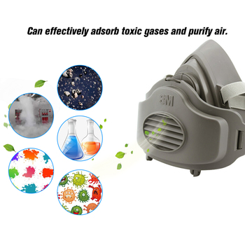 3m 3200 masks +5/10pcs 3701cn filter cotton half face dust-proof mask anti industrial construction dust haze fog safety gas mask