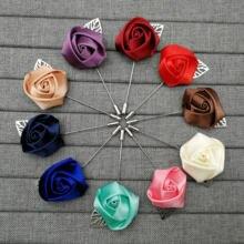 Тканевый цветочный лист Броши Булавки Мужская/женская брошь
