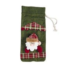 Санта-Клаус, снеговик для бутылки, чехол, сумка, рождественские аксессуары, крышка для бутылки вина, набор, новогодние, вечерние, рождественские украшения