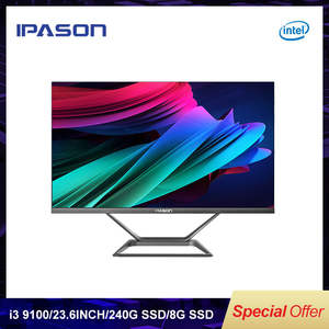 IPASON PC Gaming I3 9100 All-In-One Mini-Pc Intel DDR4 P21-PLUS 8G 240G 4-Core SSD Bluetooth
