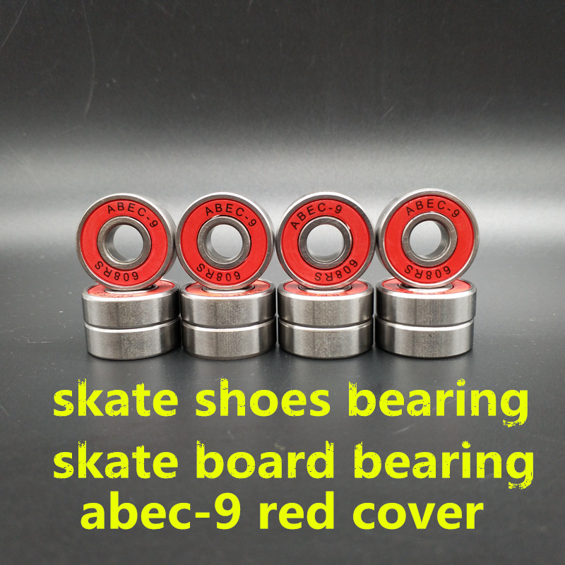 Free Shipping Skate Board Bearing ABEC-9 Chrome Steel 20 Pcs/ Lot Red Cover