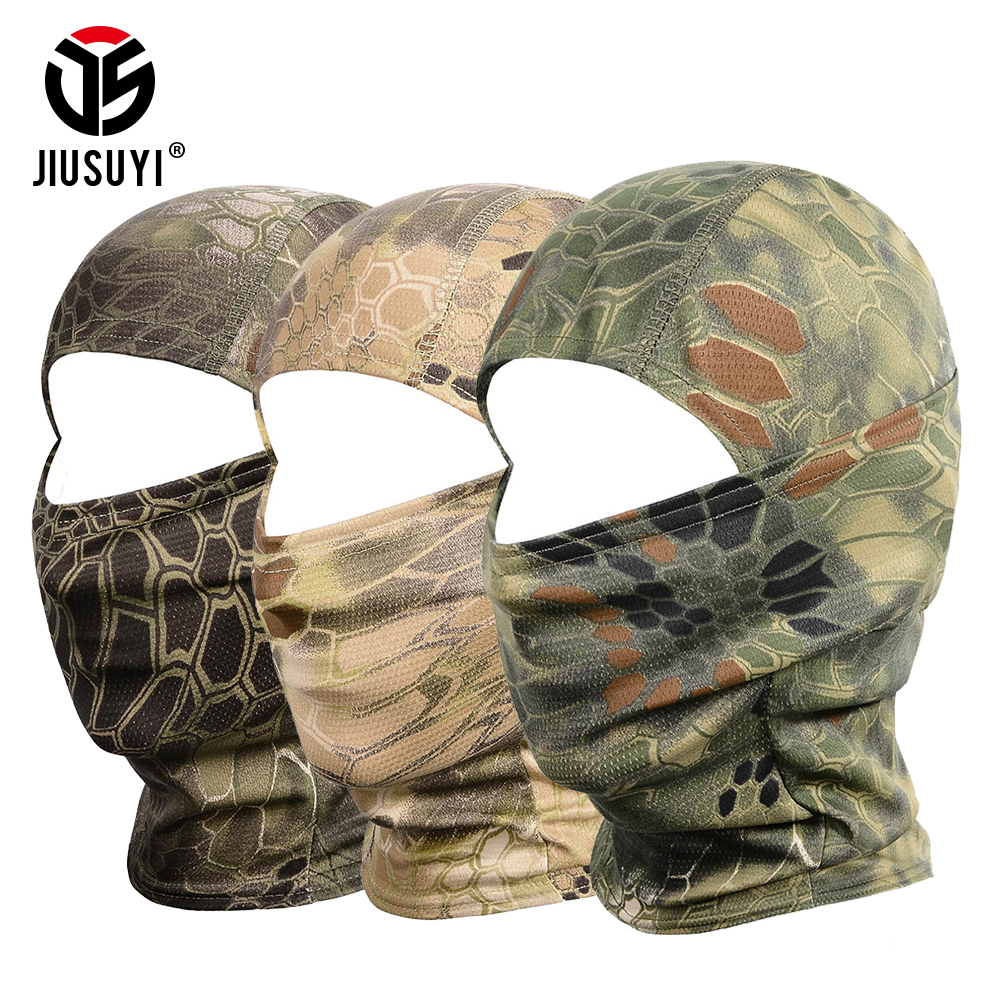 18 Style Tight Multicam Camouflage Balaclava Tactical Airsoft Paintball Bicycle Army Helmet Hats UV Protection Full Face Mask