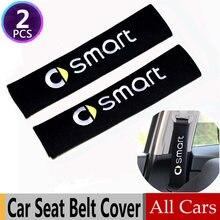Carro-estilo com todos os carros bordar corrida estilo do carro cinto de segurança capa almofada para smart fortwo forspeed forfour roadster forstars