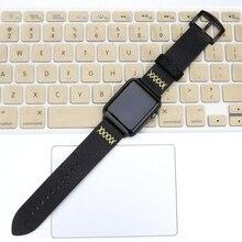 Lerxiuer Leather Crazy Horse strap For Apple watch band apple 44mm 40mm 42mm 38mm wrist watchband bracelet belt