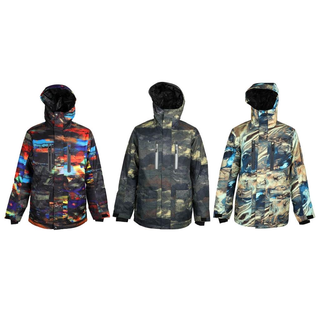 Men's Mountain Waterproof Ski Jacket Windproof Rain Coat Thermal Skisuit Snowsuit Camouflage