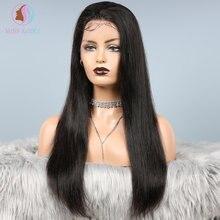 Perruque Lace Frontal Wig naturelle brésilienne Remy, cheveux lisses et soyeux, 13x6, densité 150%, DHL/FedEx, en Stock, livraison rapide