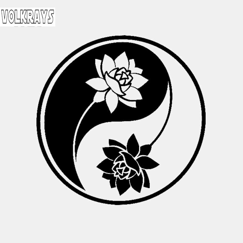 Volkrays Fashion Car Sticker Yin Yang Lotus Yoga Meditation Buddhism Art Accessories Vinyl Decal Black Silver 15cm 15cm Car Stickers Aliexpress