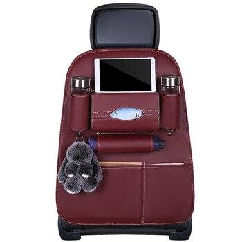 Car Seat Back Storage Organizer Bag Multi-Pocket  Sew Car  For Volkswagen VW Touareg 2011 2012 2013 2014 2015 2016 2017