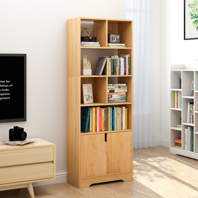 Simple Bookcase Simple Floor Bedroom Table Students Cabinet Storage Shelf Living Room Multi-functional Small Bookcase Province S