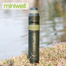 Açık survival kamp ekipmanları askeri mini su filtresi taşınabilir açık saman su filtresi