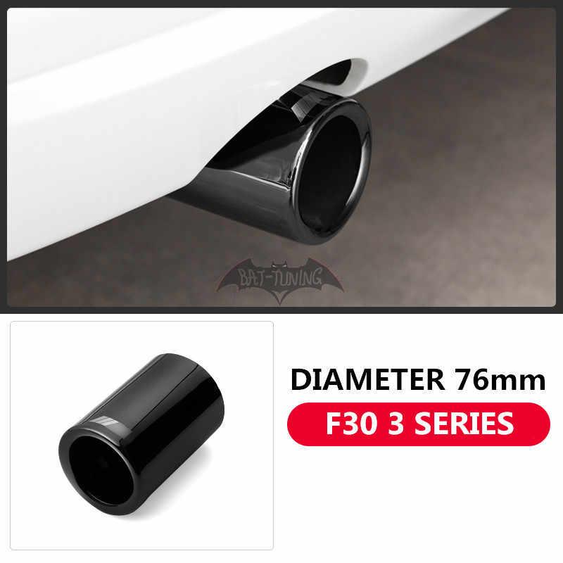 Silenciador de aspecto de fibra de carbono brillante para BMW F30 2012-2018 F10 2011-2017 F48 2016-2018 mejora la punta del tubo de escape de acero inoxidable