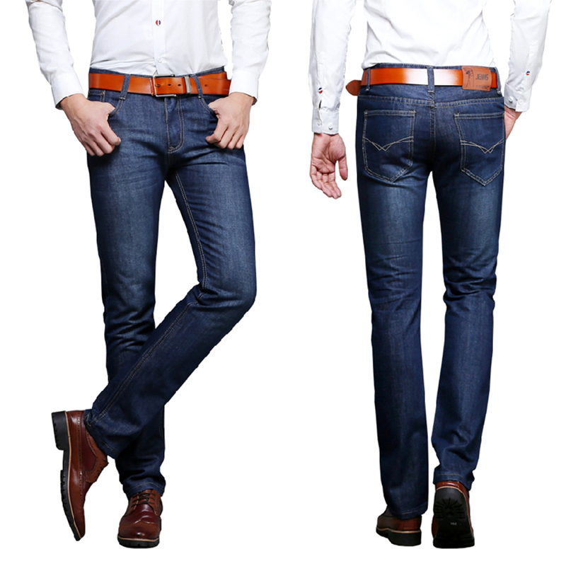 Hot 2019 New Men's Brand Jeans Fashion Business Casual Stretch Slim Jeans Classic Men's Pants Jeans Trendy Clothing 28-38