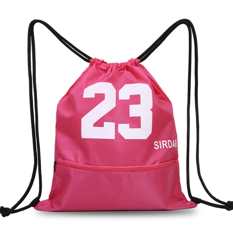Basketball Bag Sports Bag Net Pocket Soccer Package Drawstring Bag Drawstring Backpack Men And Women Sports Fitness Casual Train