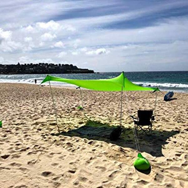 210x210 cm ao ar livre praia kale dossel sombra tenda de acampamento legal protetor solar uv dossel portátil barraca de pesca de acampamento - 4