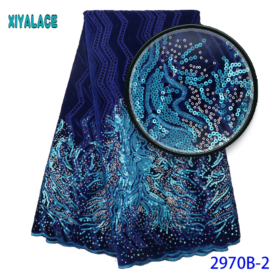 Big Velvet Lace Fabric Wedding High Quality African Velvet Lace Fabric Embroidery African French Lace For Seqins Lace 2970b