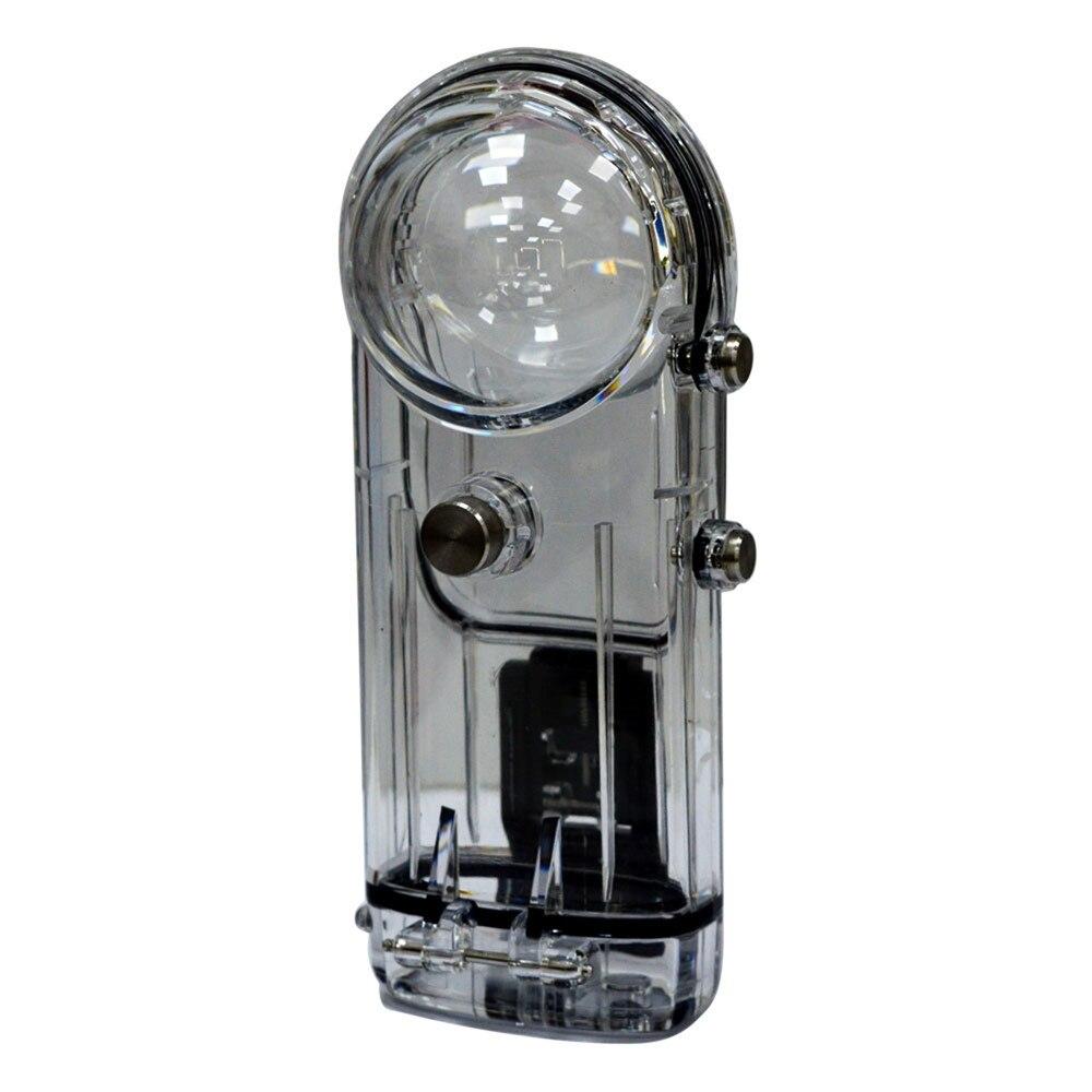 Boîtier de caméra de plongée pour Ricoh Theta S/Theta V/Theta SC 360 ° boîtier de protection Transparent étanche pour caméra panoramique
