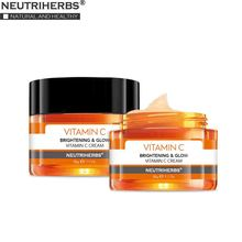 NUETRIHERBS Face Facial Cream with Vitamin C Night Moisturizing Skin Anti Aging and Wrinkle 50g ℮ / 1.7oz