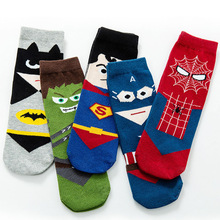 Boy's Tube Socks Pure Cotton Cartoon Pattern Kids Sports Socks Spring and Autumn Thin Children's Socks 10 Pieces 1 Lot WZ11