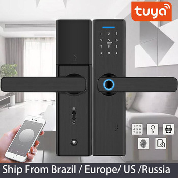 Tuya APP Remotely WIFI Door Lock Biometric Fingerprint Smart Lock ,Password Keyless Door Lock,Fechadura Digital door lock Computer, Office & Security