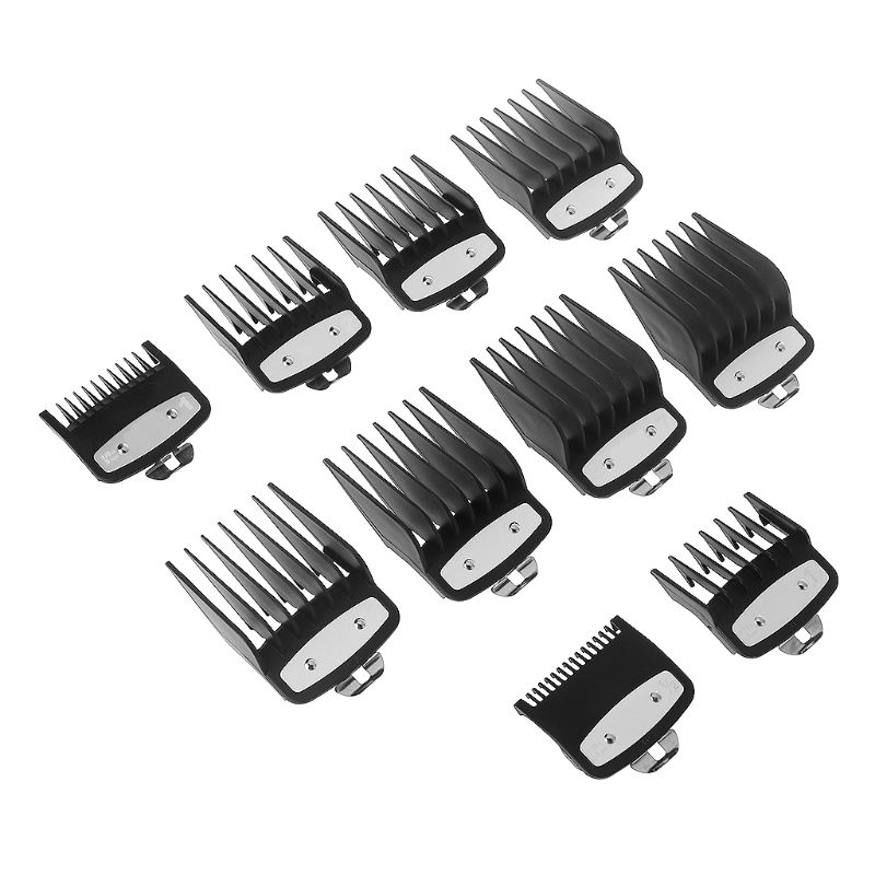 Kemei Hair Clipper Limit Comb Guide Attachment Size Barber Replacement 3/6/10/13/16/19/22/25/1.5/4.5mm