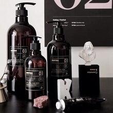 Новейший скандинавский стиль жидкий гель для душа шампунь пресс-бутылка простое мыло многоразовая бутылка