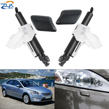 ZUK Headlight Washer Nozzle Headlamp Water Sprayer Jet / Cover Cap Shell Unpainted For FORD MONDEO MK4 2007-2014 image