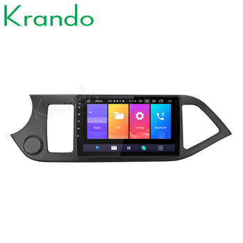 "Krando Android 9.0 9"" IPS Full touch Big Screen car multimedia player for KIA PICANTO Morning 2011-2014 navigation gps No 2din"